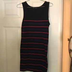 Forever 21 Dresses - Black Striped Body-Con Dress